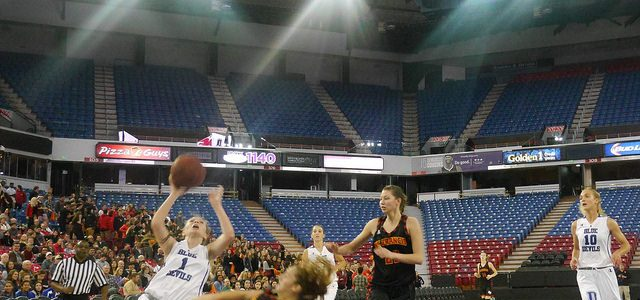 Davis High School women's basketball game in Sleep Train Arena